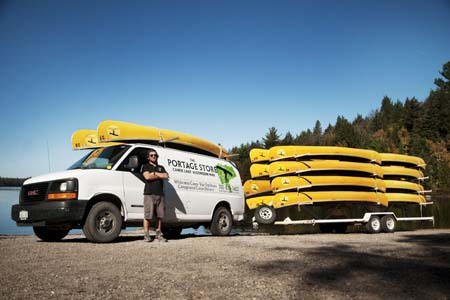 Campground canoe delivery