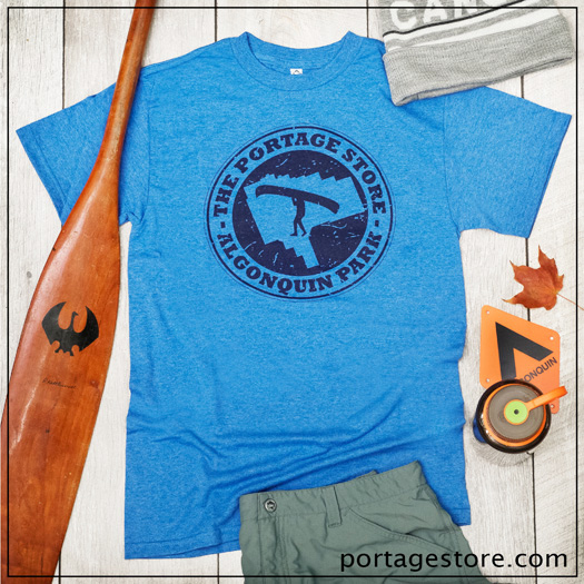 Adult: Portage Store Circle - Heather Royal Blue/Navy Ink