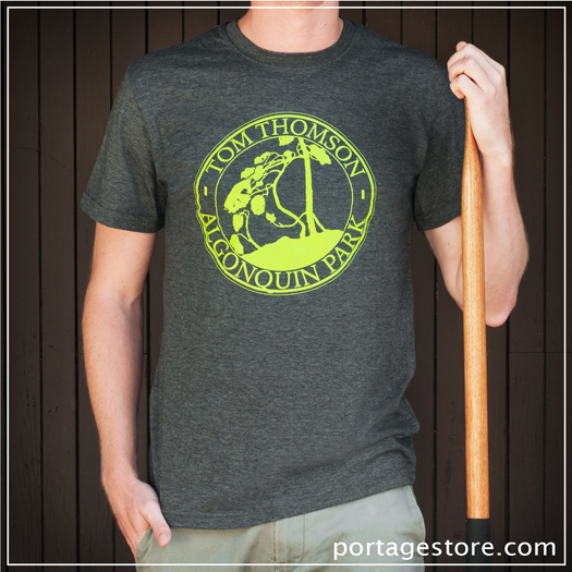 Adult: Tom Thomson Canoe Logo - Green on Charcoal