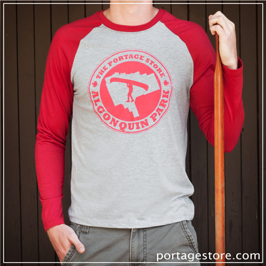 Adult: Portage Circle Long Sleeve - Red/ Grey