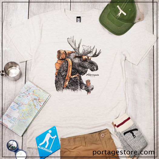 Algonquin Park T-Shirt Old Moose Hiker