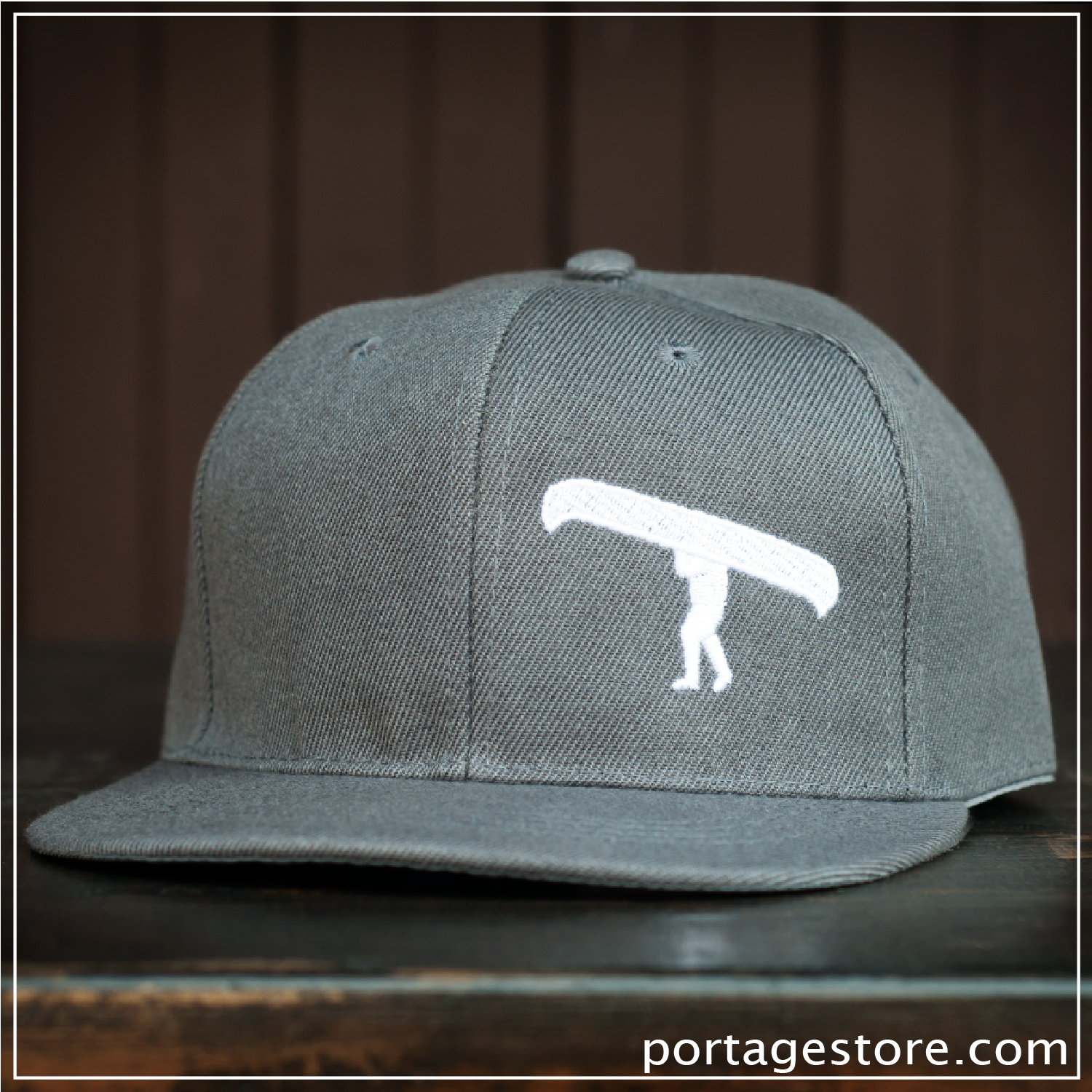 Adult: Grey Portage Man SnapBack Cap