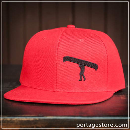 Adult: Red Portage Man SnapBack Cap