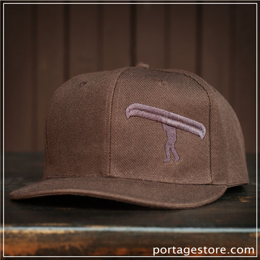 Adult: Brown Portage Man SnapBack Cap