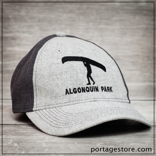 Adult: Two Tone Ball Cap with Portage Man - Grey/Charcoal