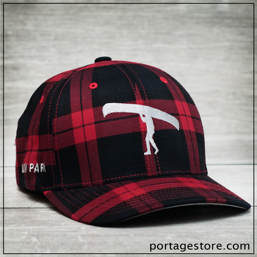 Adult: Plaid Portage Man Cap - Red/Black