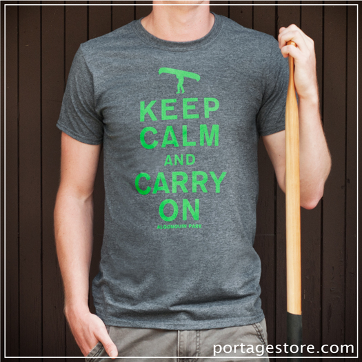 Adult: Keep Calm And Carry On - Charcoal/Green