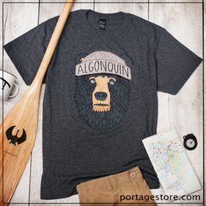 Algonquin Park T-Shirt Bear with Toque