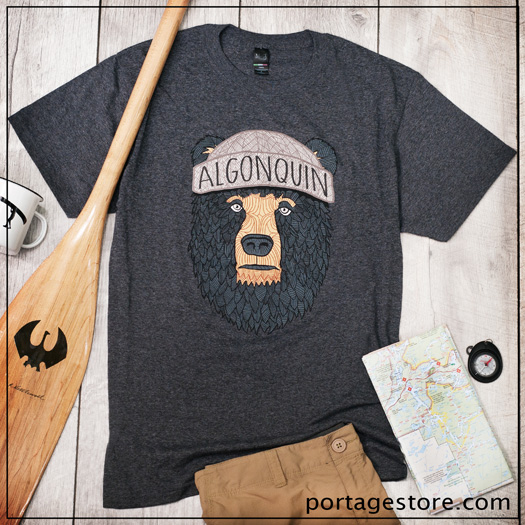 Adult: Bear with Algonquin Toque - Charcoal