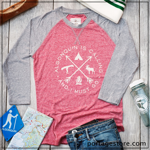 Ladies: Algonquin is Calling & I Must Go - Red/Grey