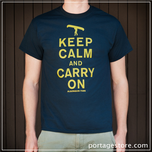 Adult: Keep Calm And Carry On - Navy/Yellow