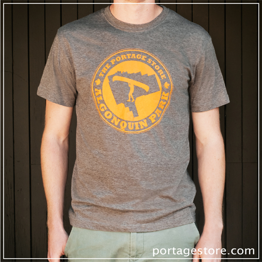 Adult: Portage Circle - Orange on Brown