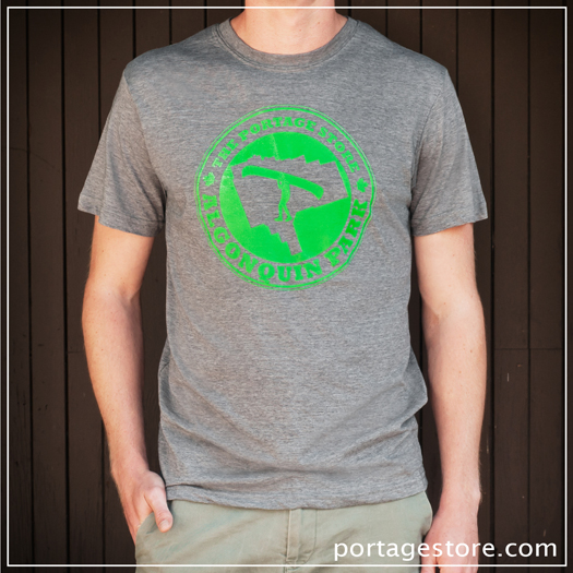 Adult: Portage Circle - Green on Grey