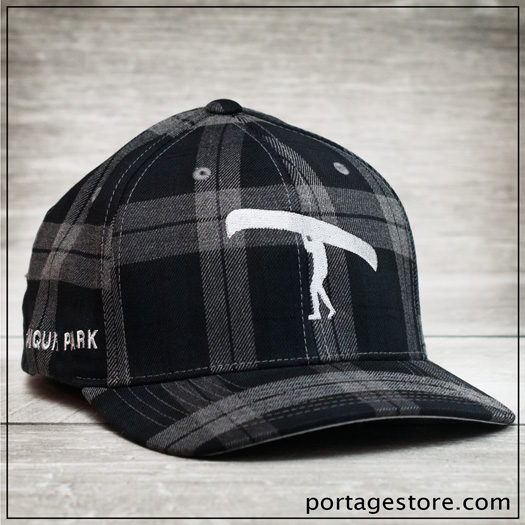 Adult: Plaid Portage Man Cap - Charcoal/Black