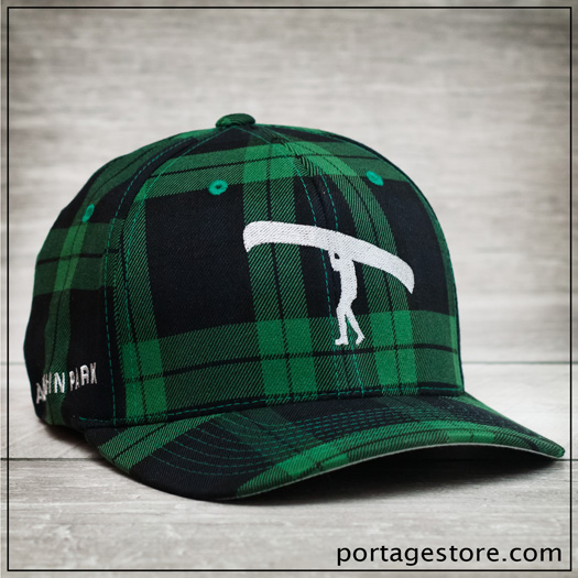 Adult: Plaid Portage Man Cap - Green/Black