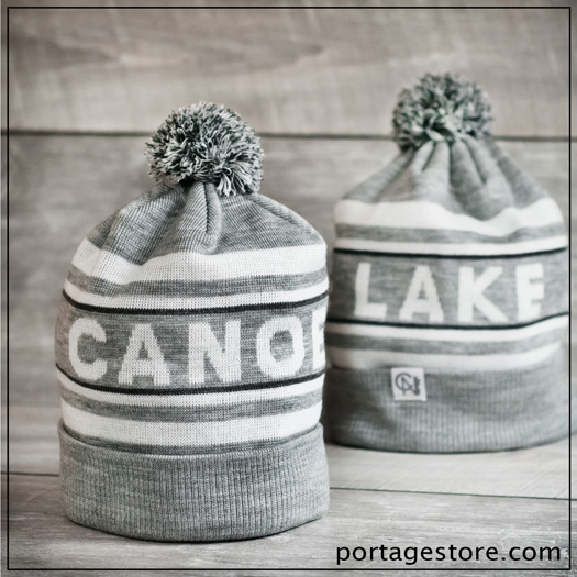 Adult: Canoe Lake Toque - Grey/White
