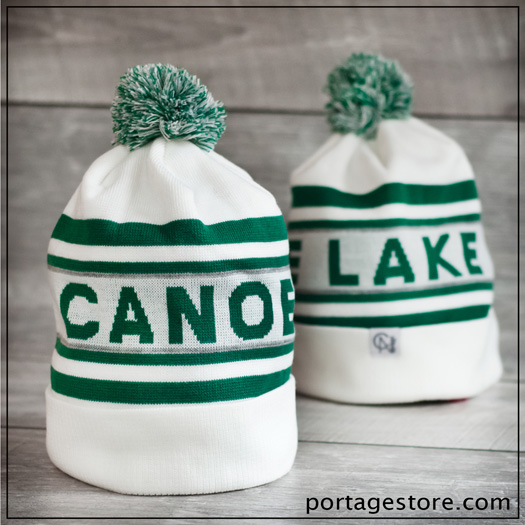 Adult: Canoe Lake Toque - Green/White/Grey