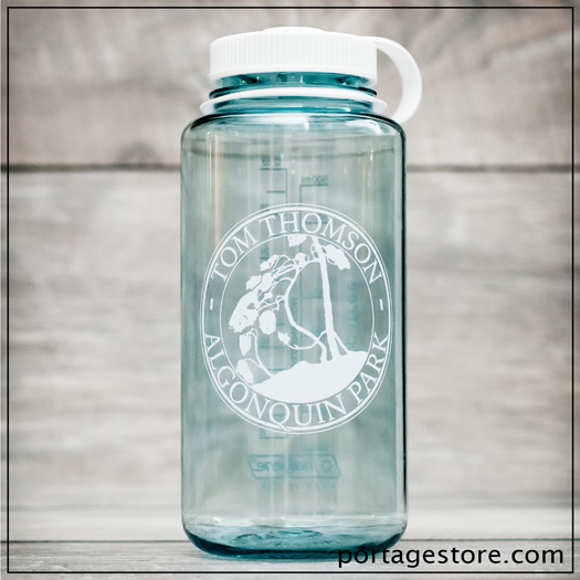 Custom Nalgene, Algonquin Park & Tom Thomson Circle - Seafoam/White