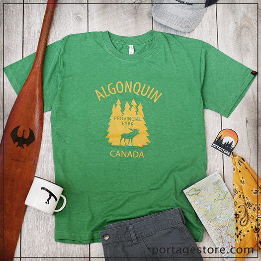 Adult/Unisex: Provincial Park Moose - Heather Green/Yellow Ink
